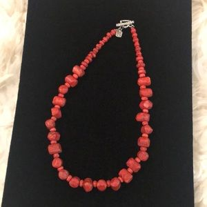 Silpada Red Sponge Coral Necklace - retired